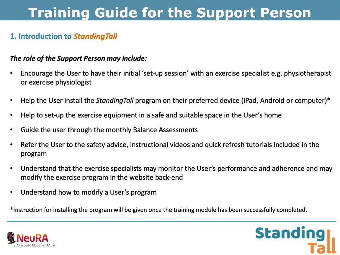 TAB 1 Training Support Person BRIEF 14 Apr 2020